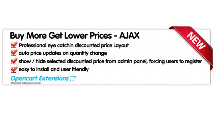 Buy More Get Lower Prices - Ajax - vQmod