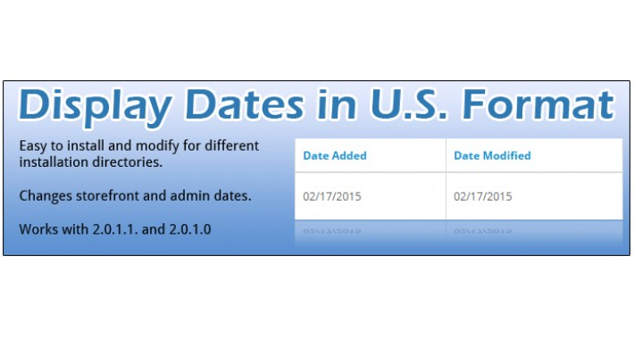 US Date Format for 2.0.1.0 - 2.3*