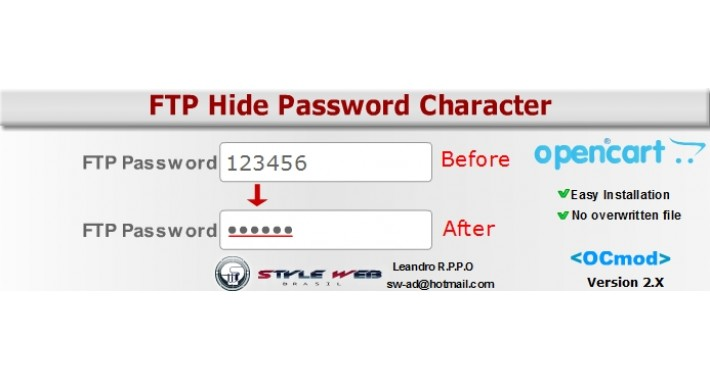 FTP - SMTP -  Hide Password Character
