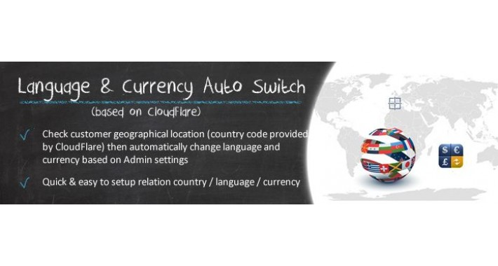 Language & Currency Auto Switch CloudFlare Based (OC2.x)