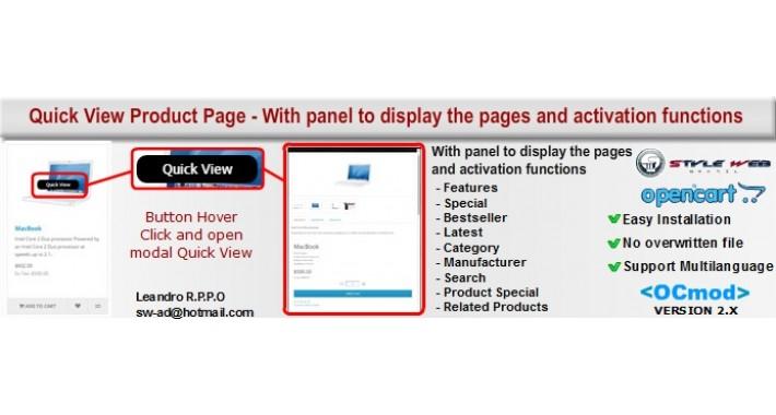 Product Quick View Premium