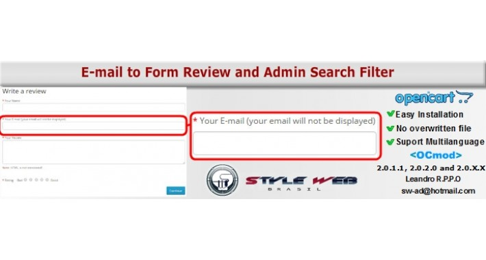 Field E-mail to Form Review and Admin Search Filter