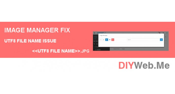 Image Manager Fix UTF-8 File Name Issue