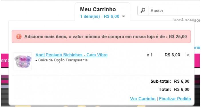 fab93fa2d2fd OpenCart - Valida Valor Carrinho