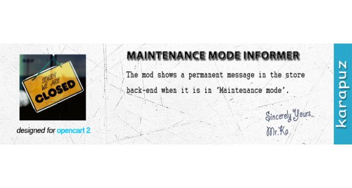 Maintenance Mode Informer
