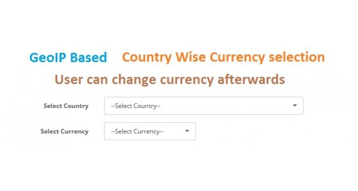 GeoIp based Autodetect Country wise Currency