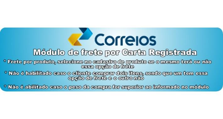 Frete por carta registrada Correios