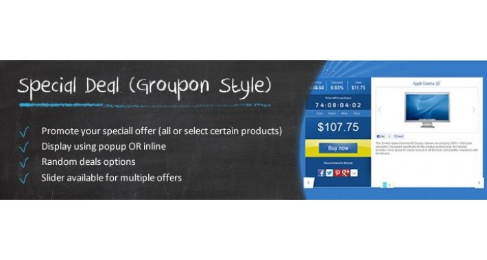 Special Deal (Groupon Style) - OC2.x-3.x