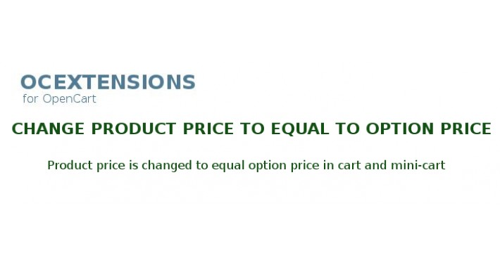 Change product price for option price