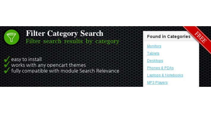Filter Category Search [FREE]