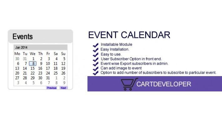 Event Calendar for OpenCart