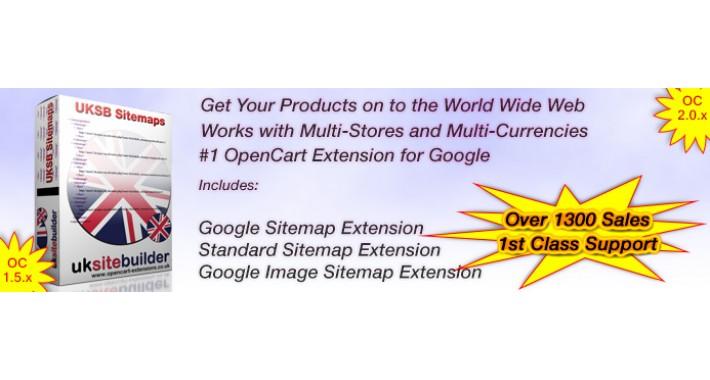 opencart google sitemaps bing sitemaps image sitemaps