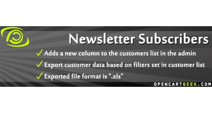 Newsletter Subscribers + Export (Customer export to XLS)