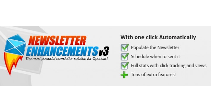 Newsletter Enhancements - V3 - vQmod + Free Mega Template Pack