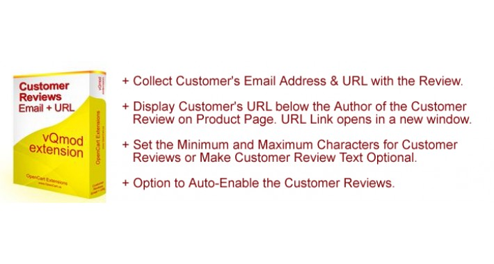 Advanced Customer Reviews with Email, URL & Auto-Enable