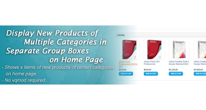 Display New Products by Categories on Home Page
