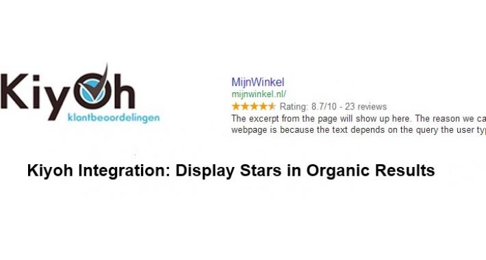 Kiyoh integration: Display Stars in Organic Results