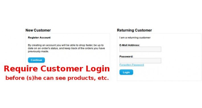 Require Customer Login