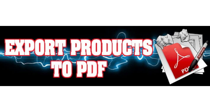 OpenCart - Products to PDF