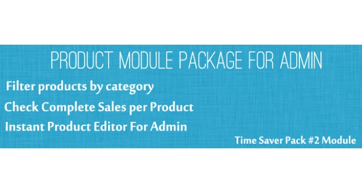 Product Extended Features - Time Saver Pack