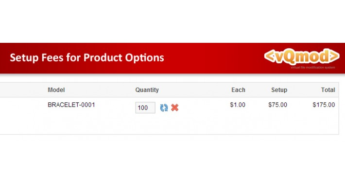 Setup Fees for Product Options