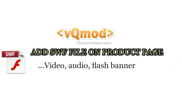 SWF object(video,audio,flash banner) on product page