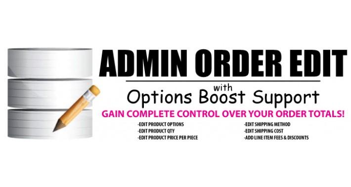 Admin Order Edit
