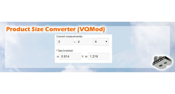 Product Size Converter (VQMod)