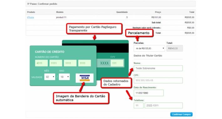 Pagseguro Checkout Transparente - Cartão, Boleto, Débito Online