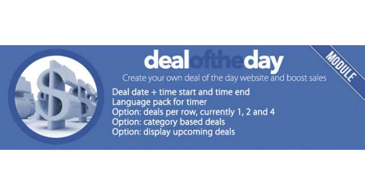 Deal of the Day with time start, time end