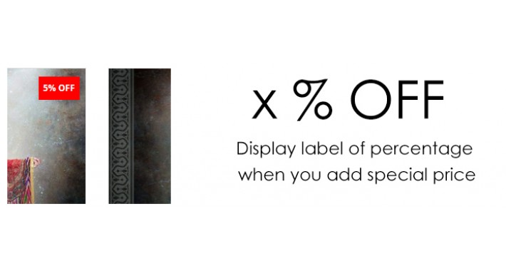 Display Label in Special Products