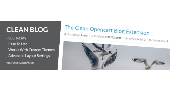 Blog - Clean Opencart Blog Extension