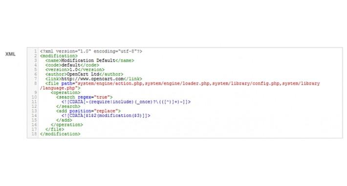 OCMOD Editor for OpenCart 2.x/3.x