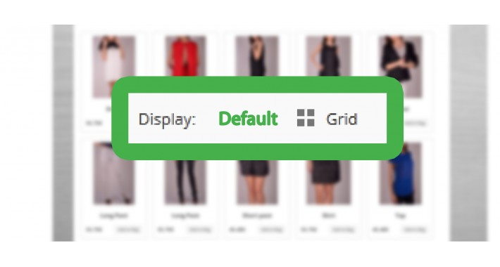 Grid view as default on category page