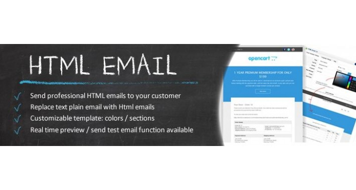 HTML Email - OC2.x-3.x