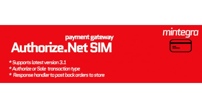 Authorize.Net SIM payment gateway for Opencart