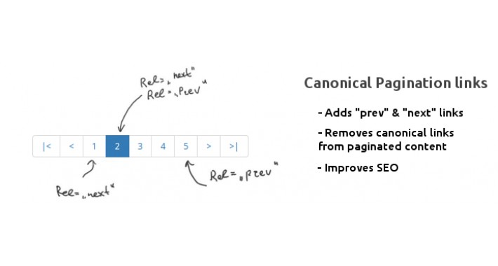 SEO Canonical Pagination links
