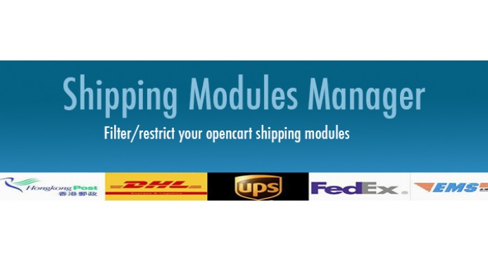 Shipping Modules Manager (Restrict/control shipping methods)