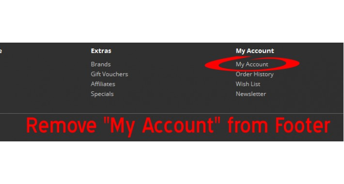 "Remove ""My Account"" from Footer [OCMOD]"