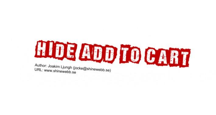 Hide Add To Cart v2.5 (vQmod)