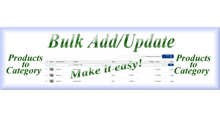 [vQMOD] Bulk add/update products to category