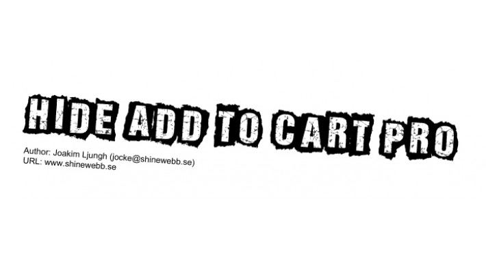 Hide Add to Cart Pro (vQmod)