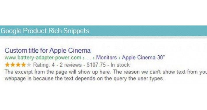 SEO Product Rich Snippets with Reviews + Pinterest Rich pins