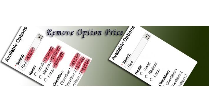 Remove Product Option Price