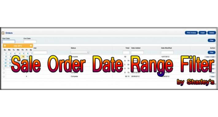[vQMOD] Sale Order Date Range Filter