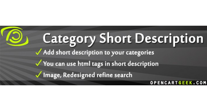 Category Short Description+Image,Redesigned refine search