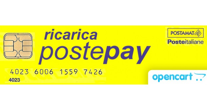 Ricarica Postepay - modulo di pagamento