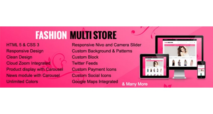 Fashion Multistore Responisve Opencart Theme