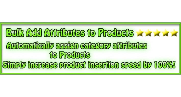(vQmod) Bulk Add Attributes To Products