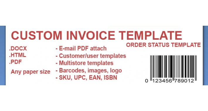 Custom Invoice Template .DOCX  Custom Invoice Template